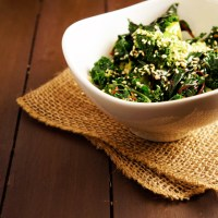 Honey-Sesame Steamed Greens
