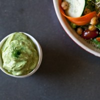 Lemon Dill Avocado Dressing