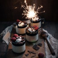 Baileys Panna Cotta and Tiramisu Trifles