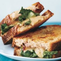 Grilled Cheese with Onion Jam, Taleggio and Escarole