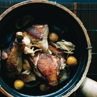 Braised Chicken with Smoked Ham, Chestnuts and Ginger