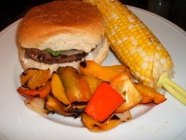 grilledcornvegetablesburger