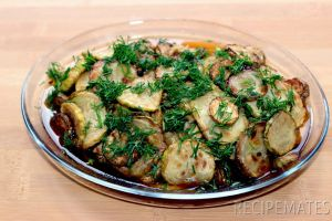 Zucchini in Garlic Vinegar Sauce