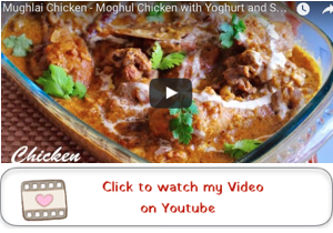 mughlai chicken with almonds youtube video