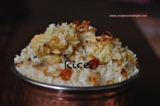 Recipes for Rice dishes