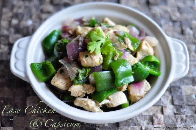 chicken with capsicum recipe with video
