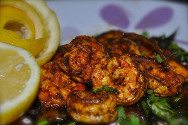 Fried Prawns Kerala Style - Chemmeen Varuthathu
