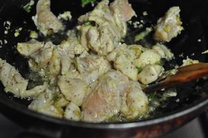 fry chicken till tneder