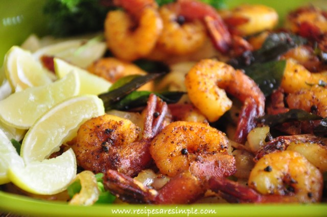 kerala fried prawns recipe