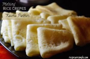 Rice Crepes Made with Coconut Milk | Kaima Pathiri