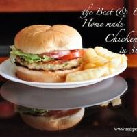 Best Home Made Chicken Burger