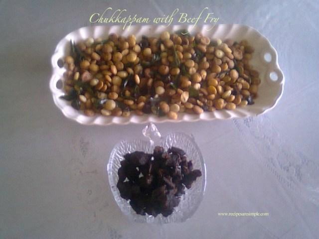 Chukkappam with Beef Fry