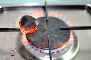 heat charcola for tandoori chicken recipe