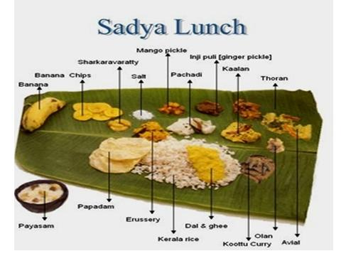 sadya - Naakilla for onam