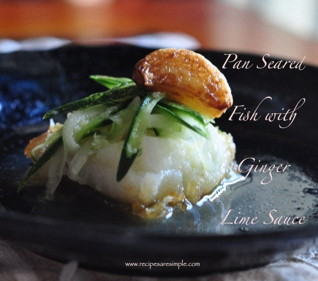 Vietnamese Seared Fish with Ginger Lime Sauce