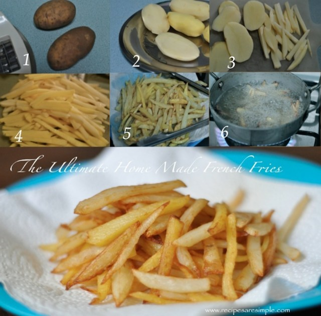 steps for home made fries