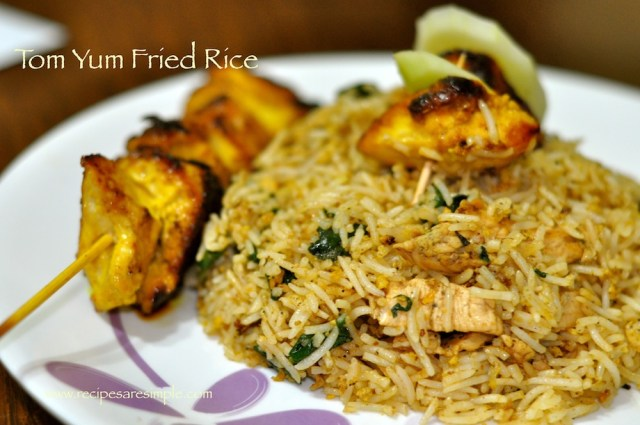 Tom Yum Fried Rice Chicken