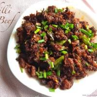 chili beef fry