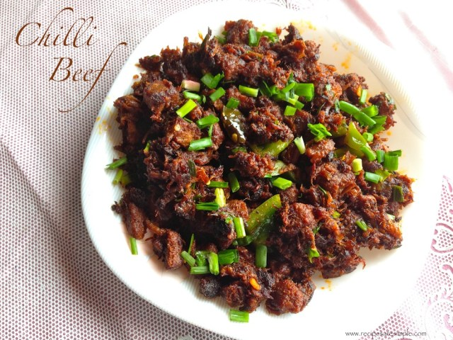 Kerala Beef Chilli Fry - Indo Chinese