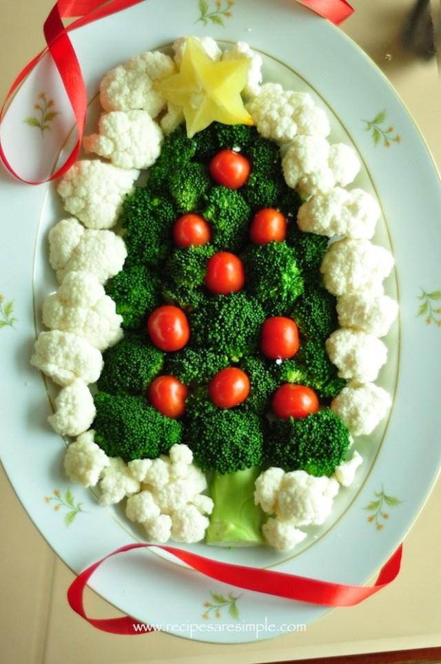 broccoli christmas plate