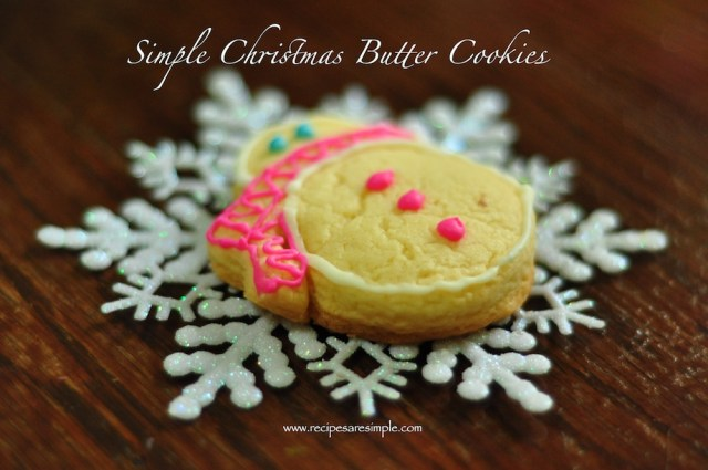 Christmas Butter Cookies with Icing