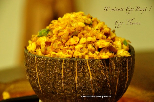 Coconut Egg Bhurji / Egg Thoran in 10 minutes.