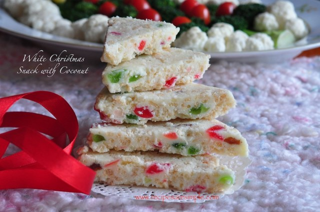 white christmas snack