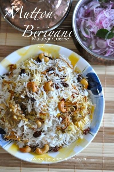 Malabar Mutton Biryani - Kerala Cuisine - with Video