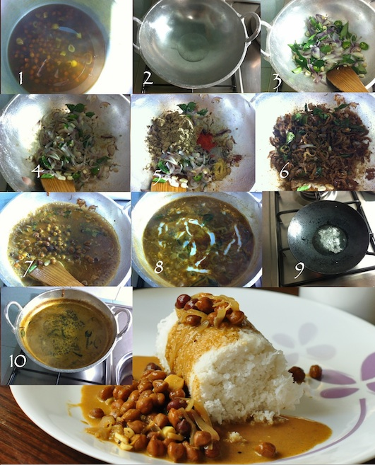 STEPS TO MAKE Black ChickPeas Curry