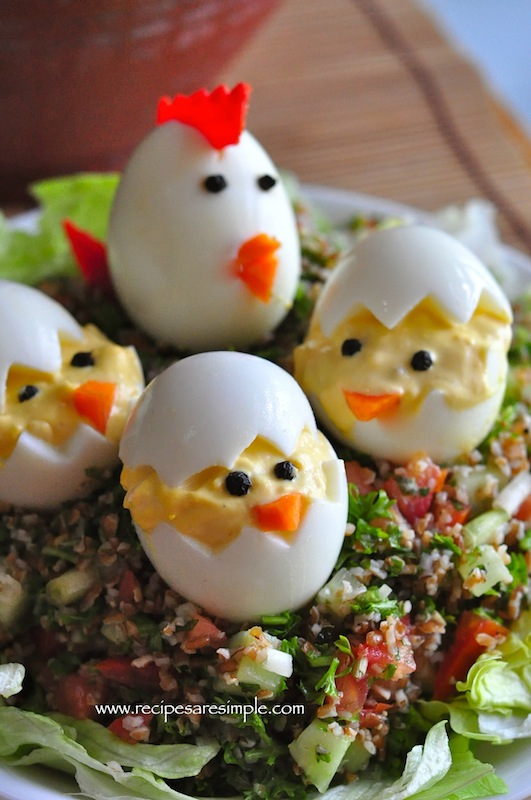 Devilled Eggs Easter Egg Chicks RECIPE