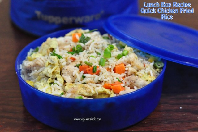 lunch box chicken fried rice