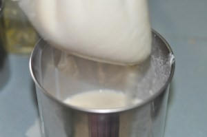 soy milk recipe - leave till able to squeeze