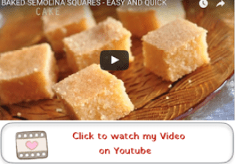 baked semolina cake youtube