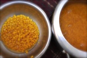 sambar recipe - Kerala varutharacha sambar dal separated