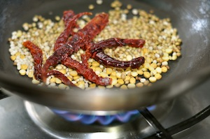 sambar recipe - Kerala varutharacha sambar roasted