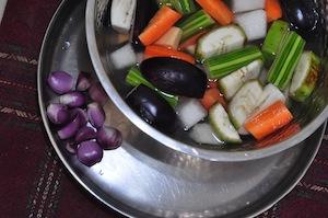sambar recipe - Kerala varutharacha sambarchopped veg