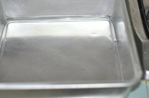 prepare tray of boiled water
