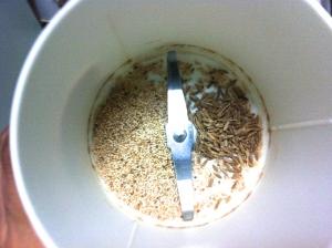 seekh kabab - add to coffee grinder