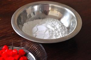 red ruby dessert -. tapioca flour