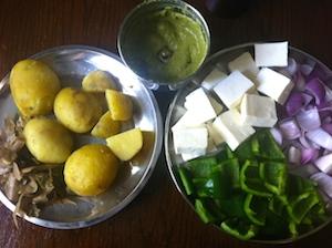 Paneer and Potato Tikka Skewers Ingredients