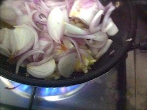 Prawns Biryani - onion