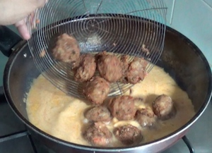 Spaghetti and Meatballs - add fried meatballs