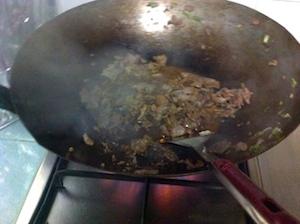 add sauce beef fried rice