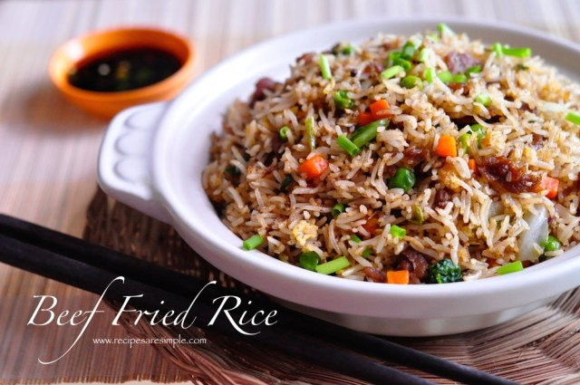 beef fried rice chinese