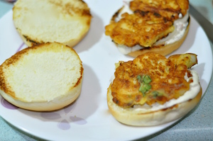 fish burger - fish patty