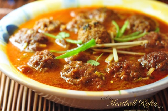 kofta meatball curry