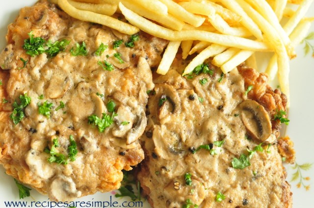recipe for western chicken chops with mushroom sauce