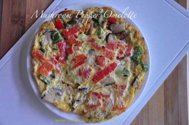 mushroom pepper omelette