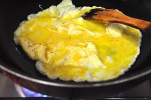 Mu Shu Chicken scramble eggs