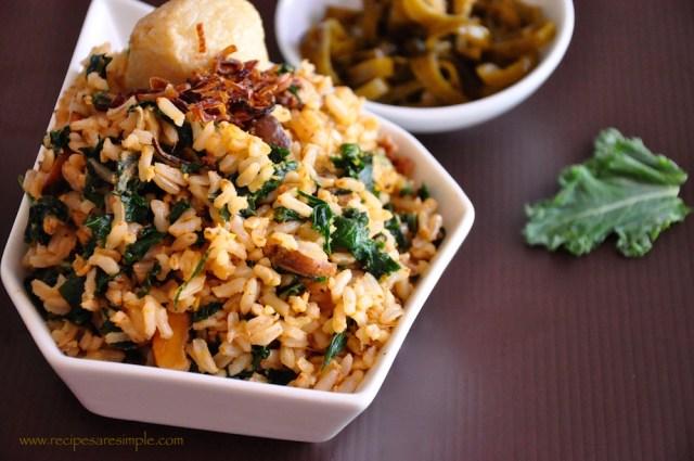 kale fried rice recipe